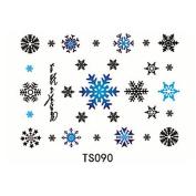 HJLWST 1pcs 3D Snowflake Waterproof Tattoo