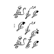 HJLWST Korean Version of The Small Fresh Waterproof Tattoo Letters Tattoo HC1139