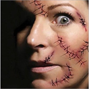 HJLWST 5pcs Hot Halloween Makeup Decoration Costume Zombie Scar Temporary Tattoos