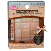 Physician's Formula, Inc., Shimmer Strips, All-in-1 Custom Nude Palette, Warm Nude, 10ml (7.5 g) - 2pc