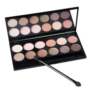 Comemall Eye Makeup Smoky Glitter Shimmer Neutral Nude Matte Eye Shadow Palette
