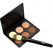 EFINNY Face Powder Contour Make Up Studio Fix Bronzer Shading Mineral Pressed Powder Palette A04