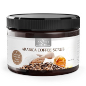 Anjou 440ml Body Scrub Arabica Coffee Scrub with Honey, Sea Salt, VB & VE