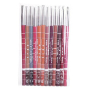 Lipliner ,Vovotrade 12pcs Women's Professional Makeup Lipliner Waterproof Lip Liner Pencil Set