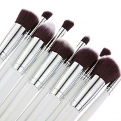 LeaningTech 10pcs Makeup Brush Set Premium Synthetic Kabuki Makeup Brush Set Cosmetics Foundation Blending Blush Eyeliner Face Powder Lip Brush Makeup