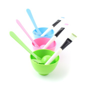 4 in 1 Beauty Homemade DIY Facial Mask Tool Mixing Bowl Brush Stick Spoon Set