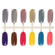 MAKARTT 1g Holographic Mirror Nail Glitter Chrome Gradient Rainbow Colour Holo Nail Powder Pigment