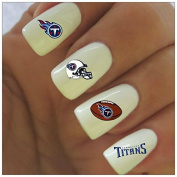 Tennessee Titans Water Slide Nail Decals