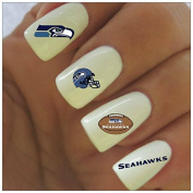 Seattle Seahawks Water Slide Nail Decals