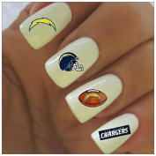 San Diego Chargers Water Slide Nail Decals