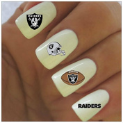 Oakland Raiders Water Slide Nail Decals