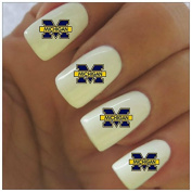 Michigan Wolverines Water Slide Nail Decals