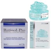 Retinol-Pro Nightly Renewal Cream and Skinlab Lift and Firm Eye Lift Gel Bundle