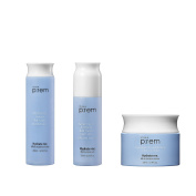 Make p:rem Hydrate me. Micro oil serum set ( essence toner + oil serum + tension Cream ) Made in Korea