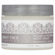 About Face Organics Vitamin A Night Cream 2% Retinol | 80% Organic | Paraben & Cruelty Free | 60ml