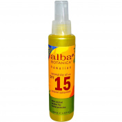 Alba Botanica, Coconut Dry Oil with SPF 15, Natural Sunscreen, 4.5 fl oz (133 ml) - 2pc