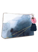 Papaya Art Indigo Watercolour Accessory Pouch Large