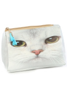 Cat Face Cosmetic Makeup Bag or Pouch Wallet