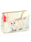 Kitty Cat Cosmetic Makeup Bag or Pouch Wallet