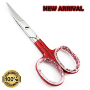 Fresh Arrival !! 8.9cm Deep Brown Cuticle Scissor, nickel plated Mirror Finish, Super Sharp Stainless Steel Manicure/Pedicure Scissors @ Best Price + FREE PVC Pouch