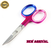 [ NEW ARRIVAL ] 8.9cm Pink Nail Scissors - Personal Care Manicure/Pedicure Nail Tool - Easy Way to Maintain Well Groomed Hands - Cuticle Stainless Steel Scissors