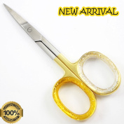 NEW Professional Golden 8.9cm cuticle scissor, Stainless Steel Nail Scissors ,Beauty Tools, Finest Finger nails Scissors By Unicorn Plus