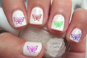 50 Celtic Butterfly Nail Art Decals