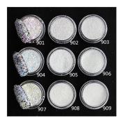 Born Pretty 1g/box Shinning Colourful Gardient Nail Glitter Powder Manicure Nail Art Gorgeous Glitter Tips #908