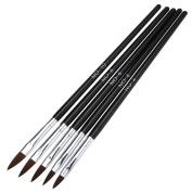 Sunfei 5pcs/set UV Gel Acrylic Nail Art Brush Drawing Dotting Drill Pen Builder Painting Pen Design Nail Art Tools