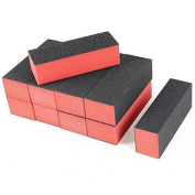 Mintbon 10 x Black Red Nail Polisher 4 Way Buffer Buffing Block Manicure File