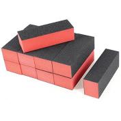 Mintbon 10 x Black Red Nail Polisher 4 Way Buffer Buffing Block Manicure File