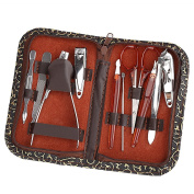 Stainless Steel Personal Manicure & Pedicure Set, Travel & Grooming Kit