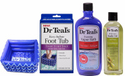 Dr. Teals Set- Foaming Vapour Bath, Body and Bath Oil, Inflatable Foot Tub