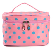 iSuperb. Toiletry Case Polka Dots Travel Organiser Cosmetic Makeup Bag
