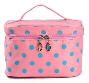 iSuperb. Toiletry Case Polka Dots Travel Organiser Cosmetic Makeup Bag