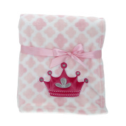 iBonny Baby Flannel Receiving Blankets,Super Soft Bath Blanket Towels, 80cm x 100cm , Crown