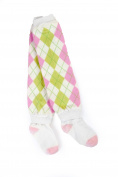 Otium Brands Infant Leg Warmer Socks, Pink and Green Argyle