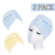 AuroTrends® Microfiber Hair Towel Wrap - Super Absorbent Drastically Reduce Hair Drying Time