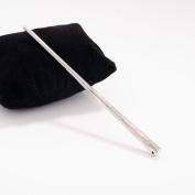 ANGELANGELA Simple Gold Silver Long Metal Hair Stick Bar Chopsticks Updo Set Geometric Pierced Barrette Fork Slide Tuck Clip Chignon Pin Brooch Hairpin Styling Ponytail Holder Bun Maker Tool GIFT