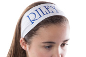 Personalised CUSTOM Cotton Stretch Headband Embroidered With YOUR TEXT- 6.4cm