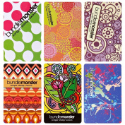 BMC Cute Colourful Mixed Pattern 6pc 1mm Thin Nail Stamping Scraper Card Set - Coloured Dreams