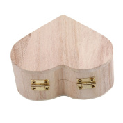 VWH Heart-shaped Wooden Box Creative Package Box Retro Storage Boxs