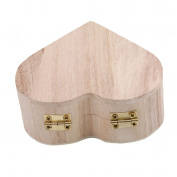VWH Heart-shaped Wooden Box Creative Package Box Retro Storage Boxs