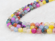 COIRIS 8MM Natural Assorted Agate Faceted Gem Round Loose Stone Beads for Jewellery Making & DIY & Design