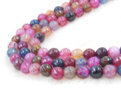 COIRIS 2Strands 6MM Colourful Natural Agate Faceted Gem Round Loose Stone Beads for Jewellery Making & DIY & Design