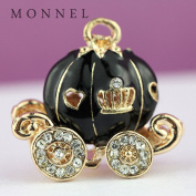 H394 Creative DIY Black Pumpkin Carriage Charms Pendants Wholesale