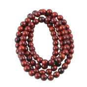 CarpenterC 200pcs 8mm Gorgeous Natural Round Polished Rosewood Loose Beads For Jewellery Making DIY Handmade Craft