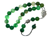 A2-0421 - Greek Style Loose Strung Prayer Beads 10mm Green Agate Gemstone Beads Handmade by Jeannieparnell