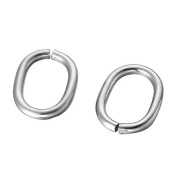HooAMI 30pcs Stainless Steel Open Oval Jump Rings 13.5mmx10.5mm,Silver Tone