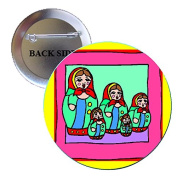 Russian Dolls Pinback Button Brooch 3.2cm
